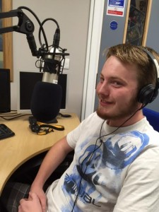 George Winstanley in the Jersey Youth Service radio station